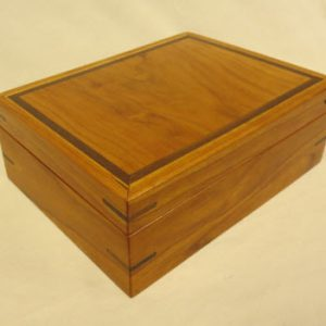 Medium Sized Hinge Cherry Jewelry Box