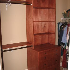 Custom Closet with Dresser and Cabinet